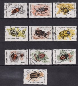 Romania   #4082-4091  canceled 1996  insects   beetles