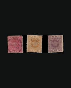 VINTAGE:MACAU-PORTUGAL 1885 ALL THINS USD SCOTT #5-7-9 $990 LOT #1885X99