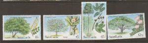 St Lucia #649-52 MNH