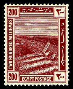 1914 Egypt #59 Aswan Dam Wmk 119 - OGNH - VF - CV$42.50 (ESP#3238)