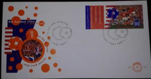 L) 1994 NEDERLANDS, FOOTBALL, SPORT, ORANGE GOES USA, 80C, FDC