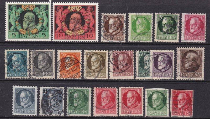 BAVERIA ^^^^1911-19   mint  & used  collection  $$ @ f6338bav3