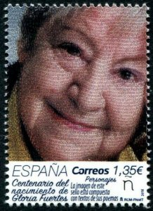 HERRICKSTAMP NEW ISSUES SPAIN Sc.# 4283 Gloria Fuertes