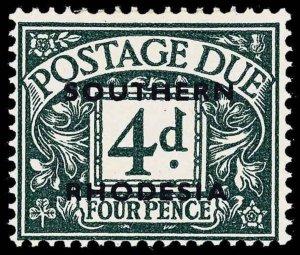 Southern Rhodesia Scott J5a Gibbons D6 Mint Stamp