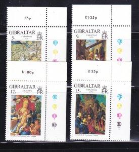Gibraltar 374-377 Set MNH Christmas (B)