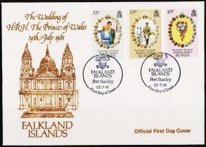 Falkland Islands. 1981 FDC. S.G.402/404  Fine Used