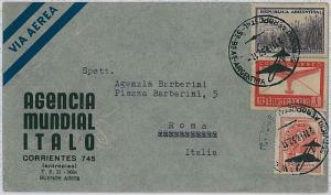 AIRPLANES - ARGENTINA - Postal History : AIR MAIL COVER to ITALY - 1952