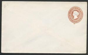 VICTORIA AUSTRALIA QV 1d envelope fine unused..............................58846