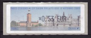 France 2005 Salon d' Automne Paris-Stockholm Self Adhesive Rated 0.53 Euro  VF