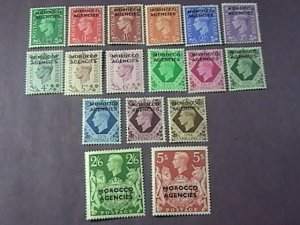GREAT BRITAIN/BOA/MOROCCO # 246-262-MINT/HINGED--COMPLETE SET--1949