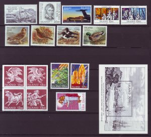 Z876 JLstamps 1987 iceland mnh year set #637-up