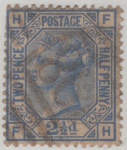 82 SG157 Plate 22  2 1/2d F-H