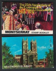 Montserrat 25th Anniversary of Coronation Booklet 1978 SG#SB3