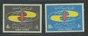 SAUDI ARABIA SCOTT# 639-640 MINT NEVER HINGED AS SHOWN