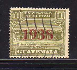 Guatemala RA9 U Post Office and Telegraph Building (D)