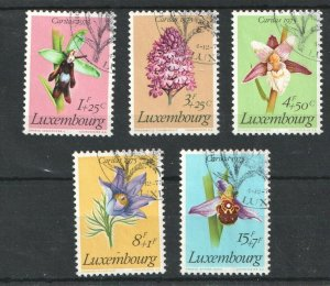 1975   LUXEMBOURG - SG:957/61 - PROTECTED  FLOWERS -  USED