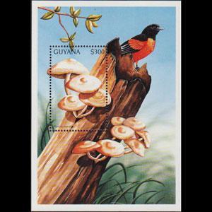 GUYANA 1997 - Scott# 3154 S/S Mushrooms NH