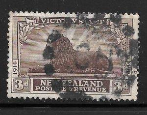 New Zealand 168: 3d British Lion, used, F-VF