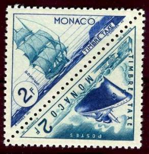 Monaco; 1953; Sc. # J40//J49a; **/MNH Se Tenant Stamps