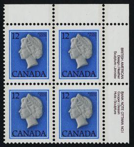 Canada 713 TR Block Plate 1 MNH Queen Elizabeth