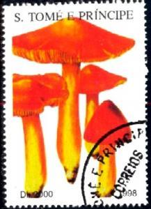 Mushroom, St. Thomas & Prince Islands stamp used