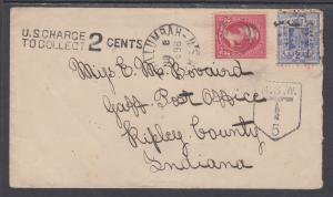 New South Wales Sc 99 on 1898 Underfranked / Postage Due Cover to US