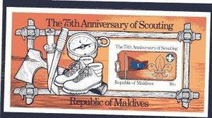 1982 Maldive Islands Boy Scout 75th anniv SS IMPERF