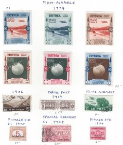 ERITREA AIRMAIL ++SCV $95.85 STARTS AT 20% 0F CAT VALUE!!!