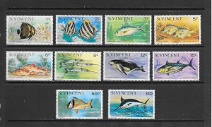 FISH - ST VINCENT #407/25  DATED 1977  MNH