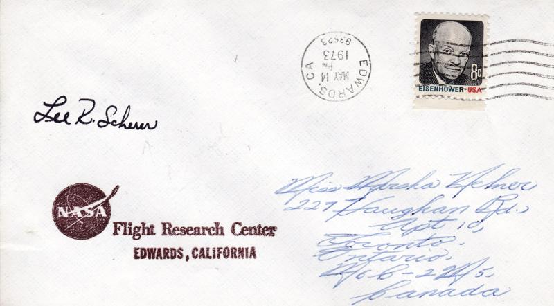 U.S. Space Cover NASA signed by Lee Scherer Director Kennedy Space Center