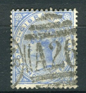 GIBRALTAR; 1890s early classic QV issue fine used 2.5d. value Postmark A26