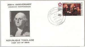Washington AMERICAN BICENTENIAL -  POSTAL HISTORY -  FDC COVER  1976 : TOGO