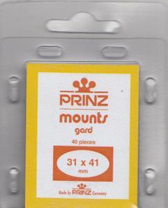 PRINZ CLEAR MOUNTS 31X41 (40) RETAIL PRICE $3.99