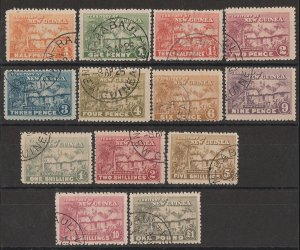 NEW GUINEA : 1925 Huts set. Distributed as specimens via the UPU & very scarce.