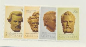 Australia Scott #885 To 888, Inland Explorers Issue From 1983, Collectible Po...