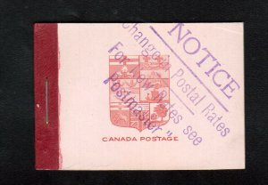 Canada Booklet #5f Very Fine Mint Complete Booklet