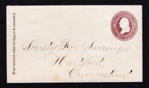 US SCOTT #U277 STATIONARY WASHINGTON BROWN 1884-6 UNUSED