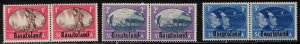 BASUTOLAND Scott # 29-31 MH - Peace Issue - South Africa With Overprint