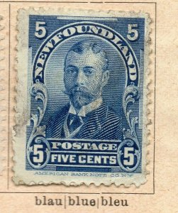 Newfoundland 1898-1901 Early Issue Fine Used 5c. NW-11944