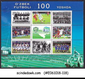 UZBEKISTAN - 2012 CENTENARY OF UZBEK FOOTBALL / SOCCER - MIN/SHT MNH