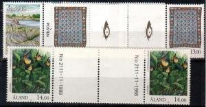 Aland Scott 52-4 Mint NH gutter pairs (Catalog Value $38.00)