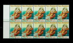 New Zealand: 1998 Children's Health, Water Safety, R6/2 collar flaw, MNH block