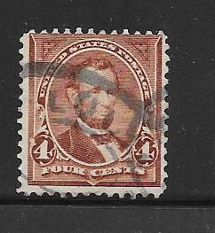 US #280 4c Lincoln, rose brown, (U) CV. $3.25
