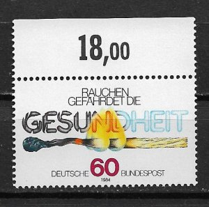 1984 Germany 1429  Anti-smoking Campaign MNH