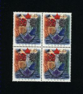 Canada #1614 Mint VF NH block 1996 PD 3.00