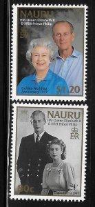 Nauru 1997 Golden Wedding QE II and Prince Philip Sc 445-446 MNH A1731
