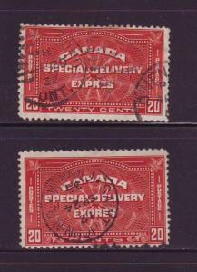 Canada ScE4-5  Special Delivery stamps used