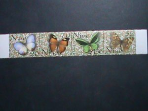 NIUE- 2001 SC#755 COLORFUL BEAUTIFUL LOVELY BUTTERFLY STAMP SET VERY FINE