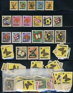 RHODESIA SC#328/47 BUTTERFLIES LOT OF 12 SETS NH