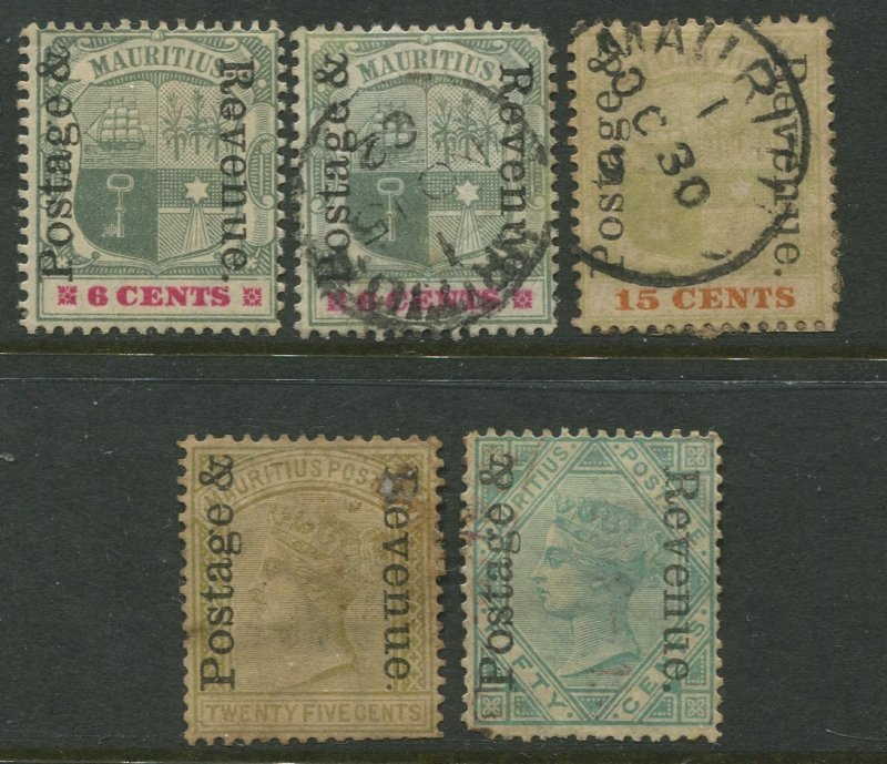 STAMP STATION PERTH Mauritius #119-122 Overprint Issue Mint /Used  CV$17.00